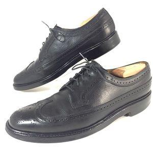 Florsheim Imperial Black Brogue Lace Up Shoes Sz 9